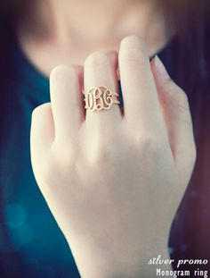 Monogram ring by Silver Promo