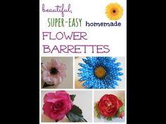 beautiful, easy homemade flower barrettes | crafts | teachmama.com