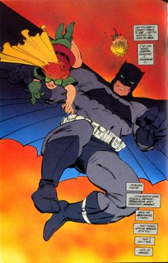 Frank Miller, Dark Knight Returns - Best Batman (and Robin) ever! Too bad he had to go and ruin it with All Star, but that's beside the point First Batman, Im Batman, Batman Comics, Batman Robin, Lego Batman, Best Batman Costume, Batman Costumes, Comic Book Characters, Comic Books Art