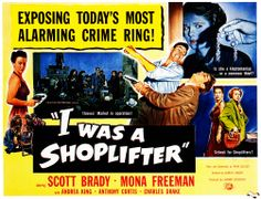 I Was A Shoplifter - 1950. #film movie #cinema #posters