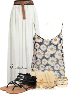 20 Cute Outfit Combinations With Floral Top - Be Modish Tank Top Outfits, Cool Outfits, Casual Outfits, Fashion Outfits, Womens Fashion, Date Night Outfit Curvy, Flattering Outfits, Looks Chic, Outfit Combinations
