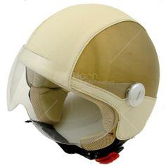 Caschi Jet Vintage CV413 #hornhelmet #helmet #casco #personalizzato #custom #beige