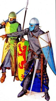 """Around 1180, however, the early """"Great helms"""" began to appear. For our period…"""