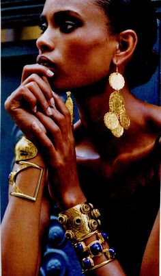 Gold ethnic jewelry and lots of it!