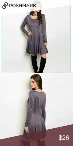 Humble and kind tunic/dress This Charcoal gray tunic/dress can be worn so many different ways. Wear it as a dress a tunic, with leggings/jeggings or skinny jeans. The stretchy materials allows for a comfortable fit. Only 2 small left, very popular at weekend boutique party. Dresses