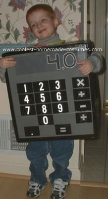 Pay homage to a math student's best friend with this homemade calculator Halloween costume