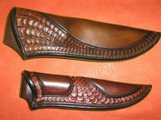 New feathered knife sheath