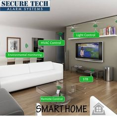 Best Home Security System, Alarm System, Smart Home, Monitor, Simple, Modern, Life, Design, Smart House