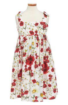 Dolce&Gabbana 'Fiori' Bow Strap Sundress (Toddler Girls, Little Girls & Big Girls)