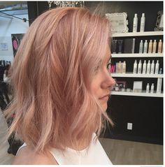 Rose gold, peach trending colour.
