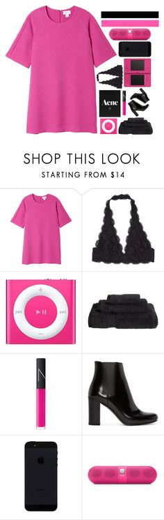 """""""You Make Me A Believer"""" by theafergusma ❤ liked on Polyvore featuring Monki, Apple, Superior, NARS Cosmetics, Nintendo, Yves Saint Laurent and Beats by Dr. Dre"""