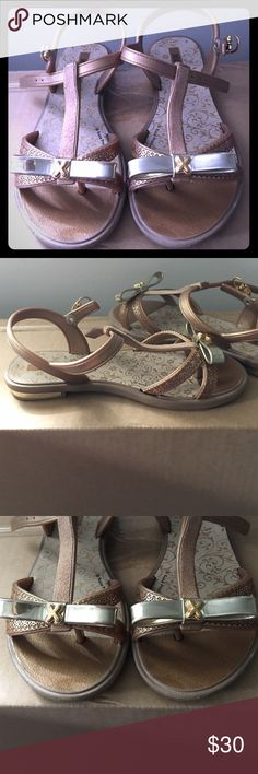 Toddler Kids Silver/Beige Sandals worn only 3 times and still in perfect condition! Will accept offers! Xuxa Shoes Sandals & Flip Flops