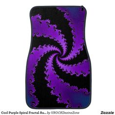 Cool #Purple Spiral #Fractal #Auto #Car Mat   #zazzle