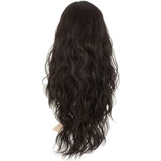Grace Long Curly Half-Head Wig In #4 Dark Brown ($38) ❤ liked on Polyvore featuring beauty products, haircare, hair styling tools and curly hair care