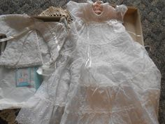 Vintage Baby Christening Gown Madonna by auctionsaletreasures