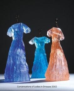 "Carmen Simmonds ~ ""Conversations of Ladies in Dresses"" (2002) cast glass via carmensimmonds.com NZ"