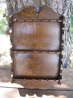 Vintage Walnut Collector's Spoon Display Rack by BougieRue on Etsy