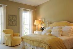 yellow bedroom - I love yellow, so sunshine-y