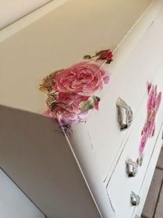 My decoupaged dresser   The dainty dress diaries