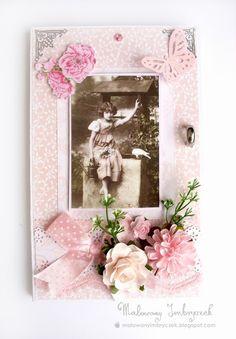 Karteczko-książeczka urodzinowa   #scrapbooking, #card, #kartka, #handmade, #rękodzieło, #malowanyimbryczek, #birthday, #urodziny, #girl