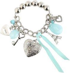Pearl Heart Charm Bracelet - Charlotte Russe - Polyvore