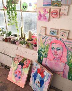 cool art The One Thing To Do For Art Hoe Aesthetic Bedrooms 48 Art Inspo, Kunst Inspo, Inspiration Art, Art Hoe Aesthetic, Aesthetic Painting, Aesthetic Drawing, Studios D'art, Art Design, Cool Art
