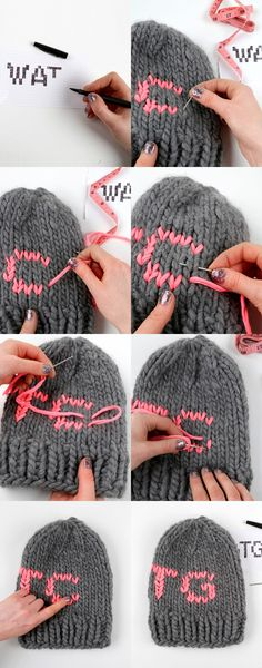 How to make the duplicate stitch #knit
