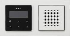 Gira 049572 inbouwradio rds met afdekraam e2 e2 wit/zuiver wit
