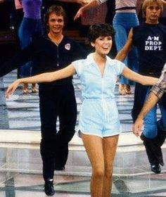 Rehearsing the original Donny and Marie show.