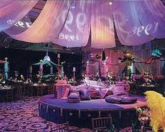 Mosaik Events, upscale Moroccan decoration to rent for themed parties: Indian Bollywood weddings, Arabian Nights, or for Bohemian decor. Arabian Nights Wedding, Arabian Party, Arabian Nights Theme, Wedding Night, Arabian Theme, Prom Night, Wedding Reception, Moroccan Party, Moroccan Theme
