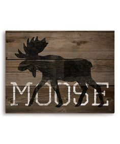 Look what I found on #zulily! 'Moose' Wall Décor by Image Canvas #zulilyfinds