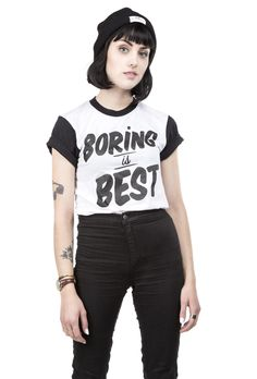 Boring is Best Two Tone Tee – Stay Home Club {NEED THIS!}