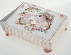 Paperlicious Designs: Shabby Chic Altered Cigar Box