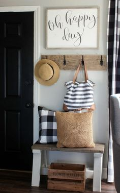 That will motivate you small Entryway ideas narrow hallways entrance front d. That will motivate you small Entryway ideas narrow hallways entrance front doors – freehomeid Diy Home Decor Rustic, Home Decor Signs, Handmade Home Decor, Decor Ideas Home, At Home Decor, Country Decor, Modern Decor, Outside House Decor, Handmade Signs