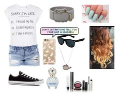 """""""Sorry I'm Late.... I Saw a Unicorn"""" by ashrushzoo ❤ liked on Polyvore featuring Topshop, Black Orchid, Converse, Casetify, Bobbi Brown Cosmetics and Marc Jacobs"""