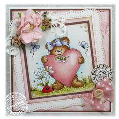 Kim's Digital Stamp - Annie's Heart