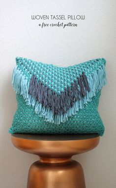 I've been working on this pillow design for the past few weeks, and I'm excited to share it with you all today! This Woven Tassel Pillow uses woven crochet, which is a new to me technique that is super easy and has loads of potential for fun designs. I'm guessing you will see more woven …