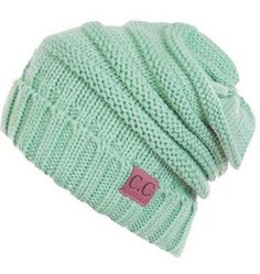 Thick Slouchy Knit Beanie. Perfect for keeping your head warm. Collect all the colors! - Fabric: 100% Soft Acrylic - Head measurement: 10 inches long by 9 inches wide lying flat - One Size Fits Most,