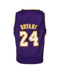 adidas Boys' Los Angeles Lakers Kobe Bryant Replica Jersey - Yellow 5/6