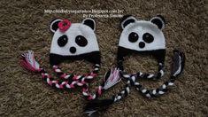 Passo a passo Touca Ursinho Panda Parte-2 Crochet For Kids, Crochet Baby, Knit Crochet, Crochet Dinosaur Pattern Free, Crochet Patterns, Round Loom Knitting, Baby Knitting, Bonnet Panda, Bebe Baby