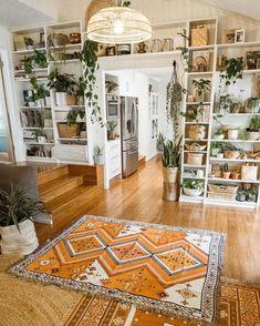 las plantas Bohemian House, Bohemian Decor, Modern Bohemian, Bohemian Style, Bohemian Interior Design, White Bohemian, Casa Hipster, Aesthetic Rooms, Style At Home