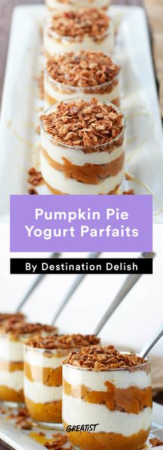Pumpkin pie for breakfast, anyone? These delicious parfaits from @greatist are perfect for getting in the Halloween mood.