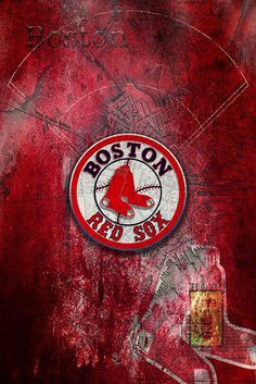 Boston Red Sox Poster Artwork Gift Layered Ma