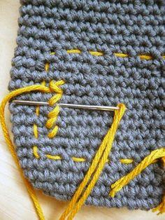 How to Cross-Stitch on Single Crochet - #diy