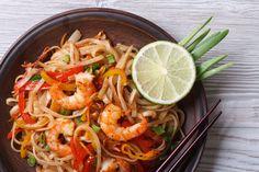 Asian Rice Noodles Shrimp Vegetables Closeup Stock Photo (Edit Now) 234530323 - Vegantables Meals Prawn Stir Fry, Stir Fry Rice, Garlic Mussels, Fried Rice Noodles, Asian Rice, Shrimp And Vegetables, Spicy, Easy Meals, Easy Recipes