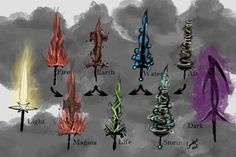 Elemental weapon concepts by epiphron d768ahp 300×200 more