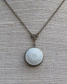 Milk Glass Locket