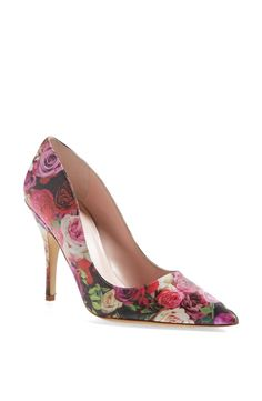 These rose print heels would be perfect for a garden wedding