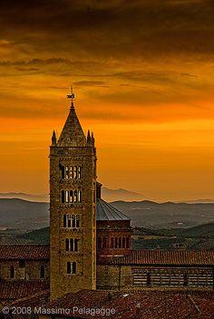 Tramonto a Massa Marittima Tuscany
