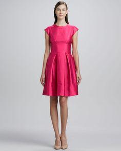 Kate Spade Vail Pleatedskirt Dress Snapdragon